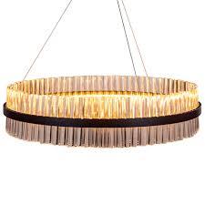 large black ring led chandelier