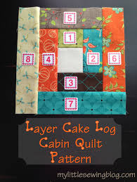 Layer Cake Log Cabin Quilt Pattern- My Little Sewing Blog | table ... & Layer Cake Log Cabin Quilt Pattern- My Little Sewing Blog Adamdwight.com