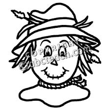 scarecrow clip art black and white. Scarecrow Clip Art In Black And White