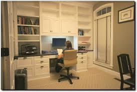 office desk with shelves. Designs 31 Home Office With Cabinets On Desk And Built In McLean, Shelves