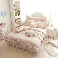 ruffles lace luxury bedding sets 100 cotton full queen king size princess bed set 4