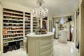 walk in closet feminine luxury walk in closet with beautiful chandelier island and makeup counter walk