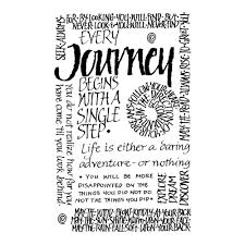 crafty individuals ci 053 journey calligraphy art rubber stamp