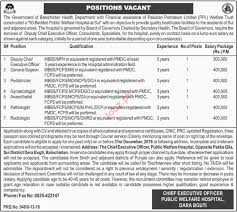 Balochistan Health Department Deputy Ceo Jobs 2019 Job