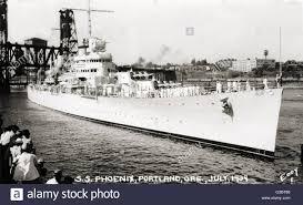 uss phoenix cl 46 american brooklyn class light cruiser seen