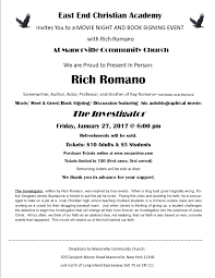 events east end christian academy eeca rich r o movie night flyer
