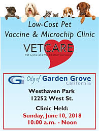 photo of the pet clinic at westhaven park flyer the city of garden grove s