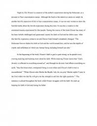 night by elie wiesel essay similar essays