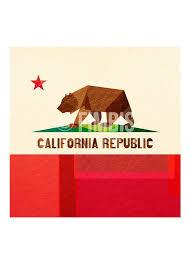 california flag art framed wall art