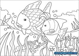 rainbow fish coloring page pdf