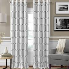 Orrstown Geometric Blackout Thermal Grommet/Eyelet Single Curtain Panel