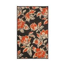 carlisle 4 ft x 6 ft indoor outdoor area rug in orange