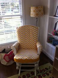 custom made nursery or home glider rocker chair cushion cover and ottoman cushion cover 80 00 via etsy