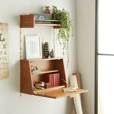 wall desks home office. View In Gallery Fold-down Desk From West Elm Wall Desks Home Office