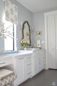 Bathroom White Cabinets A Transitional Master Bathroom Tour Zdesign At Home