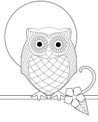 Owl Coloring Sheets Coloring Owls Coloring