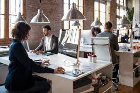 agreeable home office person visa. Young People Working On A Startup Office, All Are At Their Desks Very Concentrated. Agreeable Home Office Person Visa R