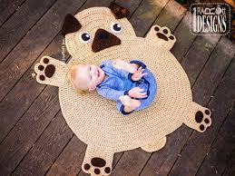animal rugs for nursery pug puppy dog animal rug nursery mat crochet pattern for babies kids animal rugs for nursery