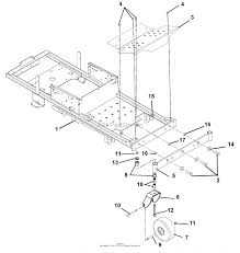 Ariens 915087 050000 zoom 1840 18hp kohler 40 deck parts diagram frame footrest casters and tires ariens 915087 050000 zoom