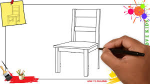 simple chair drawing. Beautiful Drawing How To Draw A Chair SIMPLE U0026 EASY Step By For Kids With Simple Chair Drawing O