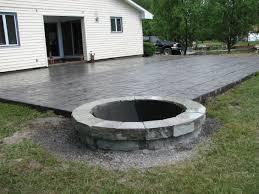 concrete patio with fire pit. Exellent Pit Floor Modern Concrete Patio Designs With Fire Pit 3  And
