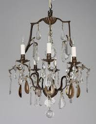 19th century french crystal chandelier at 1stdibs with regard to amazing home french crystal chandelier designs