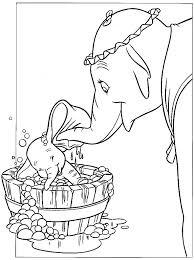 Kleurplaat Dombo Dombo In Het Bad Kleurplaten Elephant