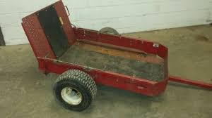 toro garden trailer with ramp rear door suitable for lawn tractor quad to pull