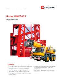 Grove Gmk3055 Manitowoc Cranes Pdf Catalogs Technical