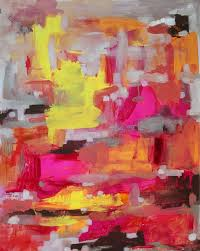 tigerlily original abstract painting by jenny vorwaller pretty