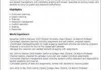 Adjunct Professor Resumes Adjunct Professor Resume Sample Www Sailafrica Org