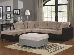 gorgeous schemes of modern style couches with cream cushions on cream fabric sofa connected by cream