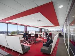modern office lounge. coalesse bix lounge chairs create vibrant collaborative spaces in verizonu0027s new jersey offices modern office n