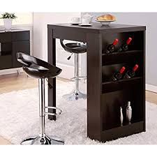 Wine rack bar table Counter Modern Contemporary Wine Bar Furniture For Your Home Retro Elegant Black Stylish Mini Bar Table For Kitchen Patio Basement Multi Functional Mobile Mybenshop Amazoncom Modern Contemporary Wine Bar Furniture For Your Home