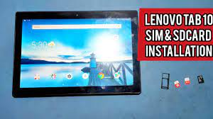 Lenovo Tab 10 ; how to install sim card and SD card in Lenovo tb-x304 -  YouTube