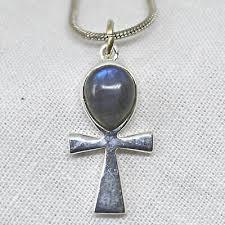 labradorite 925 silver ankh pendant