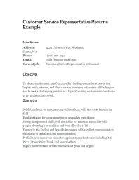 Customer Service Representative Resume Objective Client Service ...