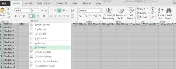 How to Create a Basic Attendance Sheet in Excel Â« Microsoft Office ...