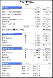 Pro Forma Cash Flow Projections Financial Reporting Inc