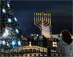 Christmas tree and menorah lightings