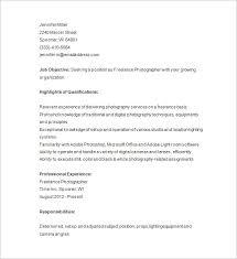 Freelance Photographer Resume Template Photography All Best Cv