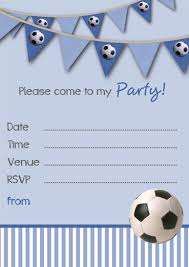 free birthday invitation template for kids free printable football party invitation templates