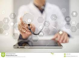 Medical Concept On Virtual Screen Healthcare Online