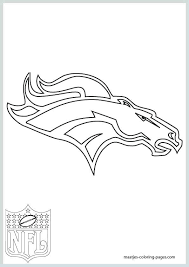 Denver Broncos Coloring Pages Broncos Logo Coloring Page Pretty