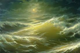 moon and waves george dmitriev painting seascape waves in the moonlight night