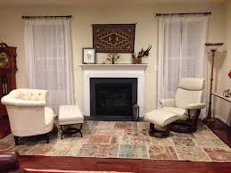 rugs in front of fireplace ideas