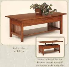 Those who live in a small space might work better with a wedge or pie shaped lift top coffee table. Elm Crest S Craftsman Collection Of Stickley Mission Style Furniture