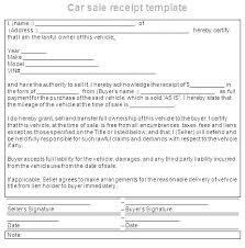 Sale Receipt For Car Car Buying Receipt Template Chanceinc Co