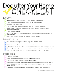 Declutter Your Home Printable Checklist - Ask Anna