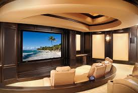 cleveland fabric wall panels home theater mediterranean with recessed ceiling general contractors dark wood cabinets
